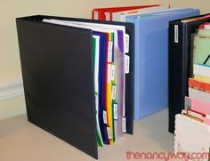 Organize with a Reference Binder
