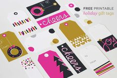 Ampersand Design Studio: free printable holiday gift tags!!