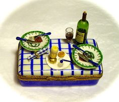Authentic French Picnic Box Limoges