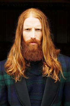 Natural red beard is considered ginger beard. There go some age-old myths about this type of beard. Ginger Men, Ginger Beard, Ginger Hair, Hairy Men, Bearded Men, Hair And Beard Styles, Long Hair Styles, Long Hair Beard, Redhead Men