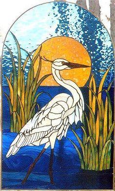 Katz-Messenger Stained Glass egret
