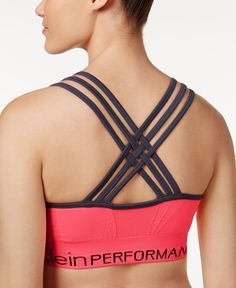 9afb0b0bcf1b0 Fashion and function meet in standout style in this low-impact sports bra  from Calvin