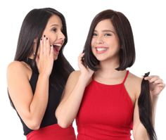 Sisters Maxene and Saab Magalona donate eight inches f their hair to make wigs for cancerstricken children
