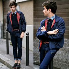 "Harrington Jacket, Jeans Whole Sale 7, Derbies - ""Atos"" - Matthias Cornilleau"