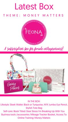 The March Edition of The FEoNA Box is here. See what great items are included in the Money Matters themed box.   Grab Your The FEoNA Box here: https://thefeonacompany.com/shop-2/ A Subscription Box For Female Entrepreneurs  Say hi on social: http://www.facebook.com/thefeonacompany http://www.instagram.com/thefeonacompany  http://www.twitter.com/thefeonacompany
