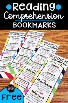 Are you teaching reading comprehension strategies? Your students will love these free printable bookmarks that serve as an anchor chart for struggling readers. I love resources that do double duty! Perfect for special education classrooms, or even grade! Reading Comprehension Posters, Reading Strategies Posters, Reading Fluency, Teaching Reading, Reading Books, Teaching Ideas, Teaching 5th Grade, 5th Grade Reading, Printable Bookmarks