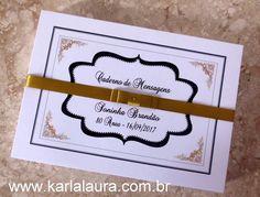 Karla Laura Convites, Lembranças e Papelaria Personalizada: Caderno de mensagens adulto - Soninha e Carmen