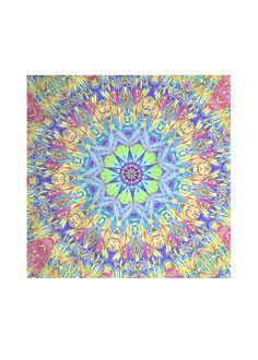 Abstract Mandala I Custom Made Designer Silk Scarf