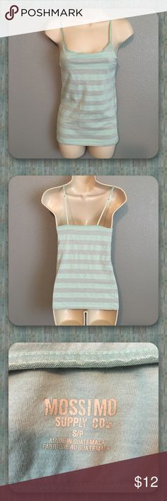 ✨Mossimo Light Green & Silver Tank Top!✨ ✨Cute Mossimo Light Green & Silver Tank Top with Support Band on the Inside! Has Adjustable Straps! In Great Condition! Size - s/p.✨ Mossimo Supply Co. Tops Tank Tops