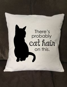 Let's be real. There's cat hair on everything. Handmade Pillow Cover fro… Let's be real. There's cat hair on everything. Handmade Pillow Cover from Jaycat Designs on Etsy. Handmade Pillow Covers, Handmade Pillows, Throw Pillow Covers, Funny Throw Pillows, Crazy Cat Lady, Crazy Cats, I Love Cats, Cool Cats, Gato Anime