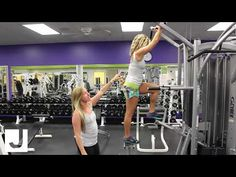 Aubri and Shannon show us how to safely use the Assisted Pull-up Machine on our Cybex Jungle Gym - Be sure to watch all of our equipment tours and master the. Weight Lifting Machines, Weight Lifting Equipment, Used Gym Equipment, No Equipment Workout, Assisted Pull Up Machine, Assisted Pull Ups, 1 Hour Workout, Pull Up Workout, Weight Machine Workout