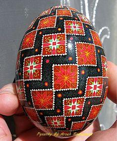Goose egg pysanka by Arsen Romanyuk , Ukraine, from Iryna