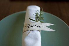 Printable, Customizable Paper Napkin Rings via Heart of Light