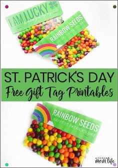 Free St. Patricks Day Gift Tags. Flawless Thank You Gift For Teachers, Co-Workers And Service Industry I Love How Easy They Are To Make. Could Be Used For A St. Patrick's Day Classroom Party. Free St. Patrick's Day Printable. #Stpatricksday #Stpatricksdaycraft #Freeprintables #Printable #Freeprintable #Gifttag #Rainbow Via Amodernmomlife