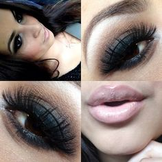 so many different ways to do dark with a nude lip