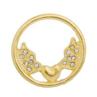 Wing pendants jewelry small parts round shaped angel wings floating charms diy yourself gifts alloy jewelry accessories fittings