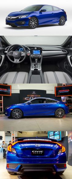 2016 Honda Civic Coupe in an official event much before the scheduled display at the 2015 Los Angeles Auto Show. 2016 Honda Civic Coupe, Civic Jdm, Soichiro Honda, Japanese Sports Cars, Honda Models, Classy Cars, Honda Cars, New Honda, Sweet Cars