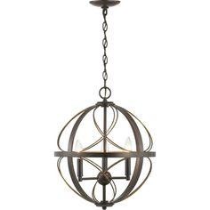 House of Hampton® Lapointe 3-Light Globe Pendant & Reviews | Wayfair Pendant Chandelier, Globe Pendant, Lantern Pendant, Pendant Lighting, Light Pendant, Entryway Lighting, Progress Lighting, Bronze Pendant, Candelabra Bulbs