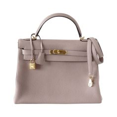HERMES KELLY 32 Glycine gold hardware clemence new fall color supple bag    From a collection ac4146ac7d