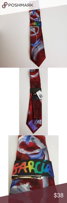 efa909aec096 NWT Jerry Garcia Tie & Clip J. Garcia tie another butterfly collection 62.  Includes
