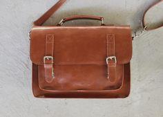 Brown leather messenger bag,  leather satchel, handmade leather bag, leather shoulder bag, by Lemum on Etsy https://www.etsy.com/listing/166193870/brown-leather-messenger-bag-leather