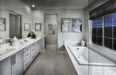Is this spacious, double-vanity, master bathroom everything you've ever wanted? Find your dream bathroom at Opal at Tracy Hills in Tracy!// Models open daily for touring! Second Mortgage, Mortgage Tips, Ryland Homes, California Room, Open Family Room, My Ideal Home, New Home Construction, Unique Wall Decor, Homes