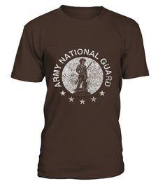 Men S Us Army National Guard Seal Emblem Vintage Grunge T-shirt Medium Asphalt copy