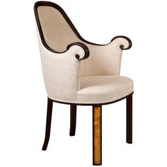 Nordiska Kompaniet, a Swedish Grace Period Ebonized Wood and Birch Armchair | From a unique collection of antique and modern armchairs at https://www.1stdibs.com/furniture/seating/armchairs/
