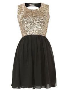 Black Black Parisian Black Sequin Scoop Back Dress  £29.99