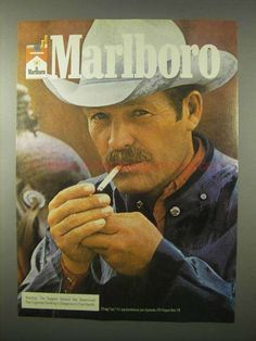 1980 Marlboro Cigarettes Ad-This is a 1980 ad for a Marlboro Cigarettes! The size of the ad is approximately The caption for this ad is Malboro, Vintage Ads, Vintage Style, Lee Horsley, Marlboro Red, Cutting Horses, Marlboro Cigarette, Diy Shoe Rack, Old Advertisements