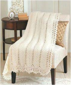 Elegant Crochet Blanket