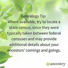 Who has found additional clues by searching in a state census?  #genealogy #ancestry #familyhistory #familytree #census #federalcensus #library #heritage #roots