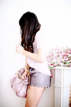 ✕ Lavender lacey shorts (from asos)