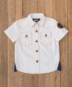 White 'Bigggrrr The Good Ones' Button-Up - Infant, Toddler