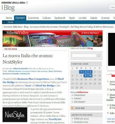 NextStyler on Corriere della Sera by Alberto Onetti