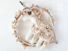 Handmade bagcharm/ keychain and a matching hairband. pogo-pony.com