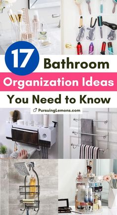 Is your bathroom a mess or lacks storage space? These 17 bathroom organization ideas will get your bathroom organized instantly and help you save space! Toothbrush Organization, Small Bathroom Organization, Clutter Organization, Small Space Organization, Home Organization Hacks, Organizing Ideas, Getting Organized At Home, Organized Mom, Declutter Home