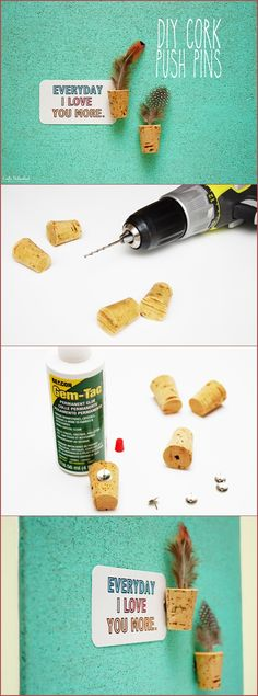 DIY Cork Push Pins