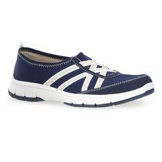 Easy Street Kila Women's Slip-On Shoes, Size: medium (8.5), Blue (Navy)