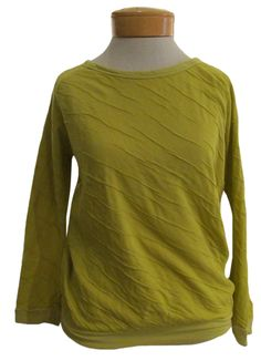 Velvet Sara Dual Sweater Knit Top SO CUTE! This wonderful knit top from Velvet is the perfect every-day cool kind of piece we're always looking for. So comfortable, this soft top also has so much modern design in it--a pretty wide crew neck, relaxed cut with a banded hem, and cool crinkle texture, NOT TO MENTION THIS GORGEOUS LEMONGRASS COLOR, makes this piece a must-have with jeans and fall jackets. The cutest top to wear anywhere and everywhere…