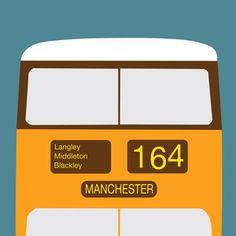 Manchester Bus Print @teaandceremony £12.00