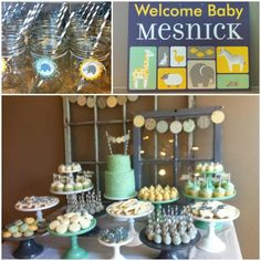 Molly Mesnick baby shower decor