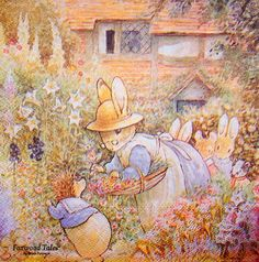 Foxwood Tales by Cynthia and Brian Paterson Childrens Illustrations, Classic Art, Cute Animal Illustration, Bunny Painting, Illustration, Fantasy Images, Cute Pictures, Art, Animal Illustration