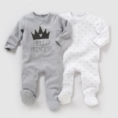 image Pyjama coton interlock (lot de 2) 0 mois-3 ans R essentiel