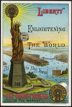 Liberty enlightening the world as to the best six cord thread in the market.
