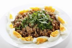 Around the world in 50 dishes Ful medames (Egypt) Mashed fava beans made with parsley, onion, garlic, cumin powder, lemon juice, black pepper and cayenne salt, ful medames is a staple Eqyptian dish.