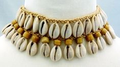 Hemp Cowrie Choker/Necklace- CK-6093