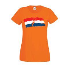 Bevrijdingsdag | Dames t-shirt Vrijheidsvlag (10000)