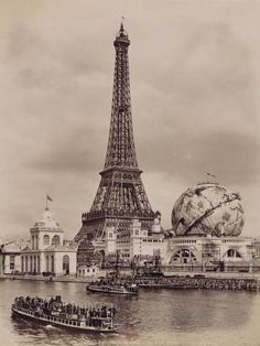 the Eiffel Tower and the Celestial Globe at the Universal Exhibition in Paris, France Paris France, Paris 1900, Old Paris, Vintage Paris, Tour Eiffel, Paris Torre Eiffel, Paris Eiffel Tower, Eiffel Towers, Old Pictures