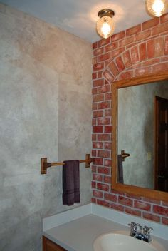 Faux Brick Painting | ... paint walls are a faux old world look ceiling is painted a soft sky